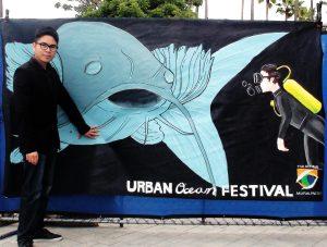 Artist Minh Le at Urban Ocean Festival